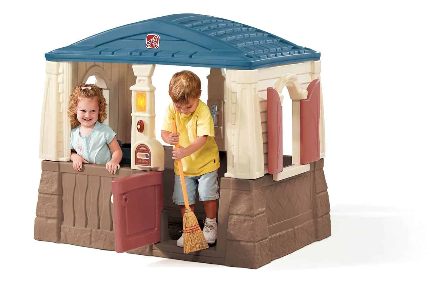 wooden or plastic playhouses cool outdoor toys