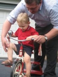 Learning to ride a tricycle
