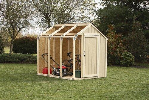 Basic Shed Kit, Peak Style Roof