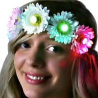 Light Up LED Flower Crown for road safety