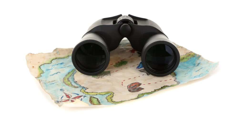 Binocular on map